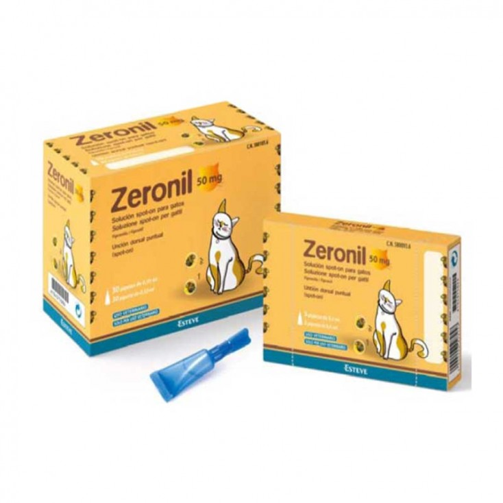 ZERONIL 50 mg Solución Spot-On para Gatos